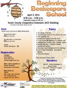 Cover photo for Beginning Beekeeping School to Be Held in Bryson City