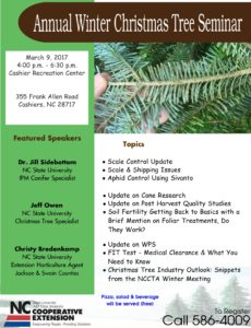 Cover photo for Annual Winter Christmas Tree Seminar