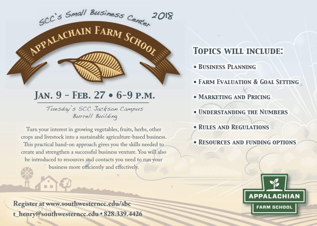 2018 Appalachian Farm School North Carolina Cooperative