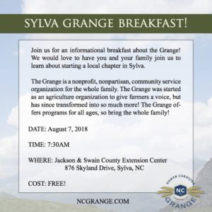 Cover photo for Come Learn About Starting a Local Grange Chapter in Sylva
