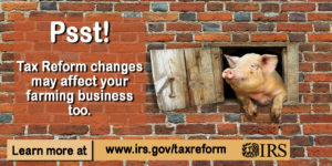 Cover photo for Tax Reform: Changes for Farmers in 2018