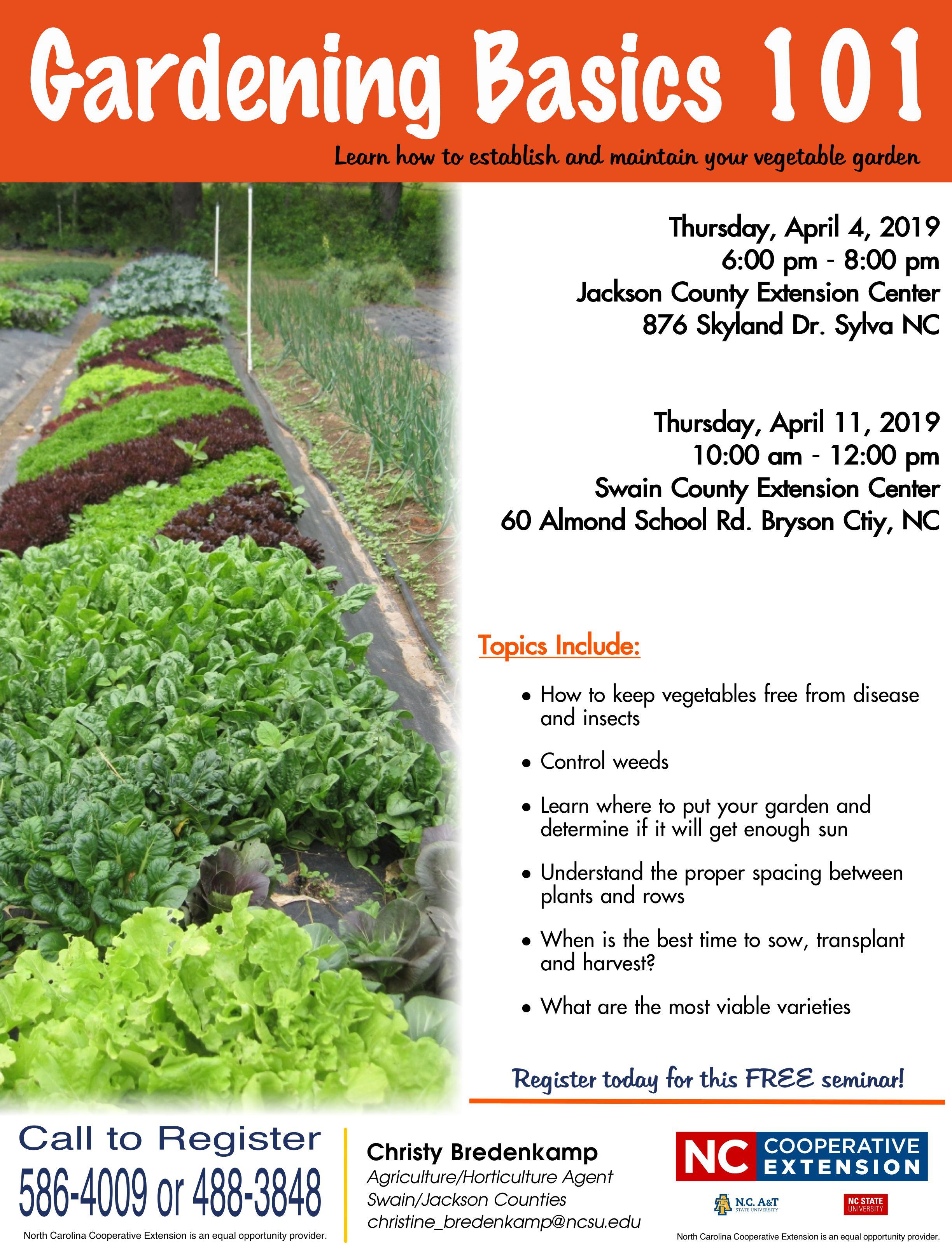 Gardening Basics 101 flyer image