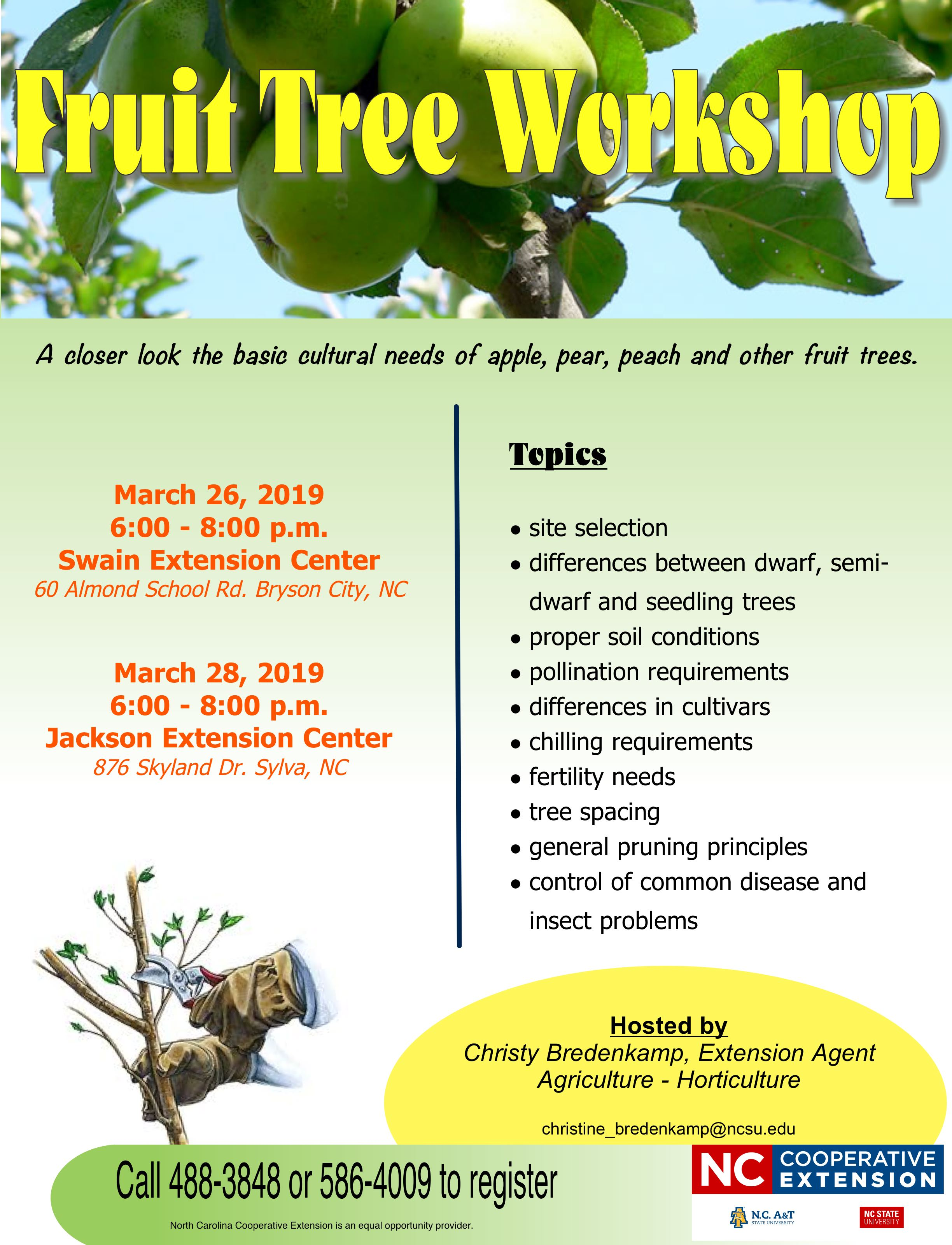 Fruit Tree Workshop flyer image