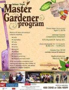 Extension Master Gardener volunteer program flyer