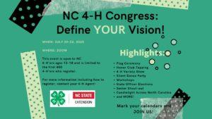 Cover photo for North Carolina 4-H Congress