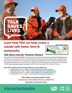 Cover photo for Talk Saves Lives for Firearms Owners
