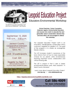 Cover photo for Leopold Education Project Educators Environmental Workshop