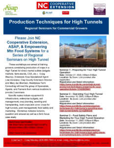 Cover photo for Production Techniques for High Tunnels