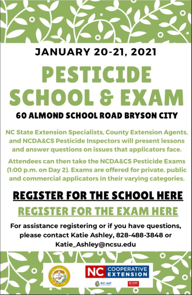 Pesticide School & Exam flyer image