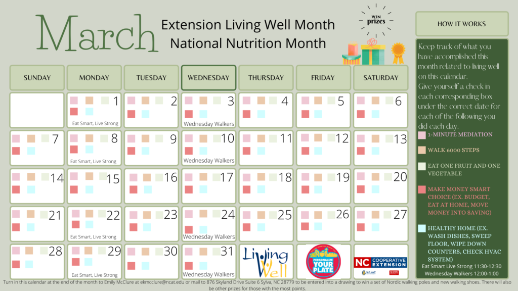 Living Well Month flyer image