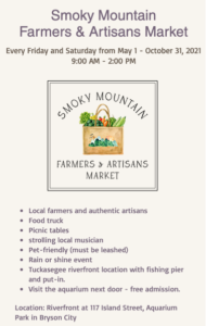 Cover photo for 2021 Smoky Mountain Farmers & Artisans Market