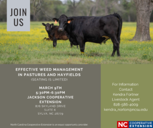 Cover photo for Jackson and Swain Livestock Producers Monthly Meeting