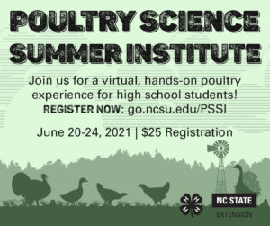 Cover photo for Poultry Science Summer Institute